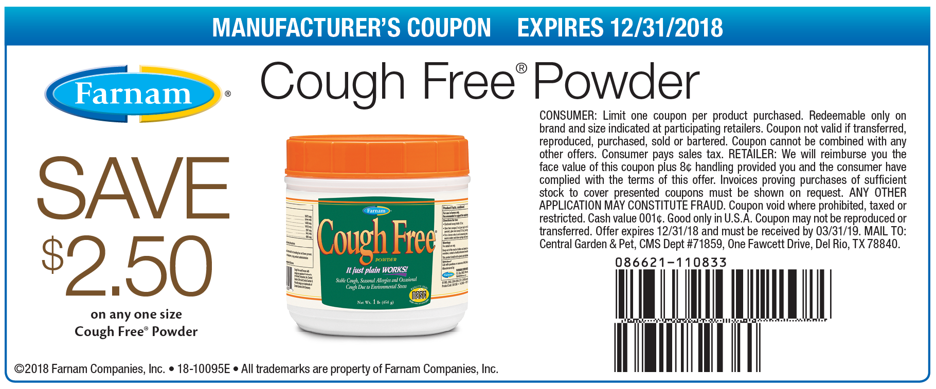 save 2 50 on cough free farnam